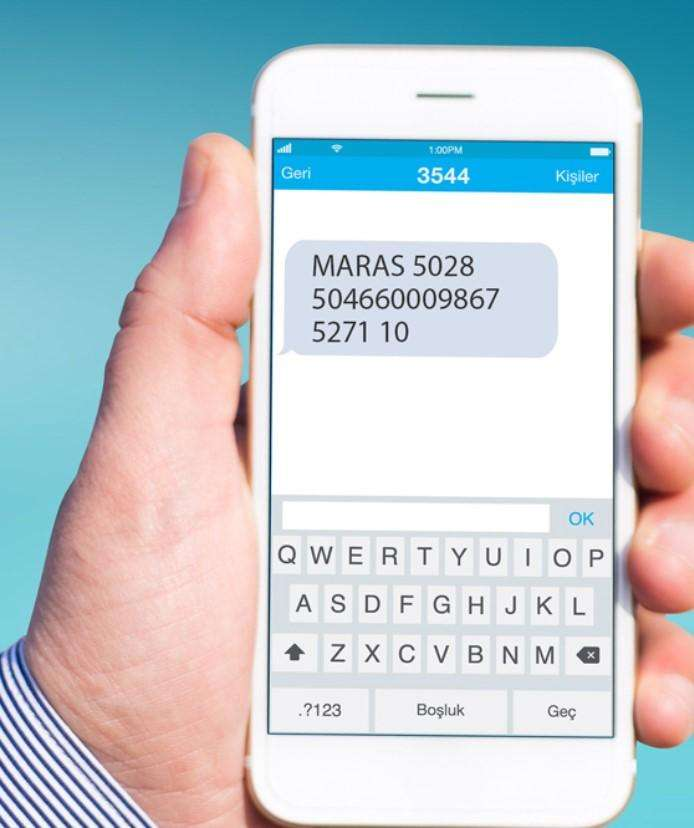 kahramankart sms ile para yükleme