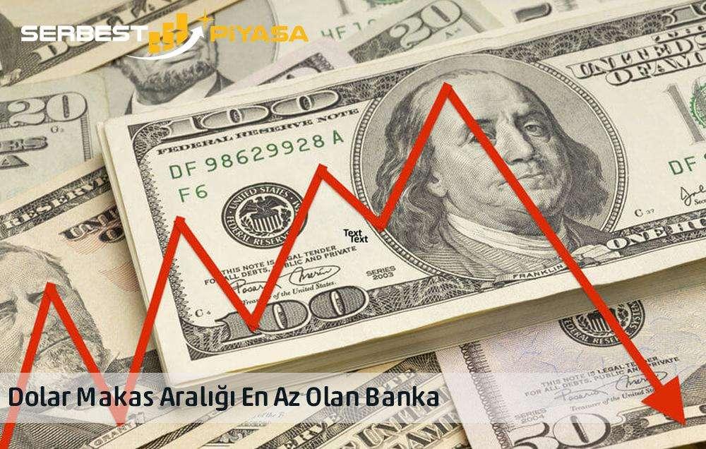 dolar makas aralığı en düşük olan banka