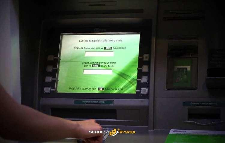 Garanti Bankası kartsız para çekme