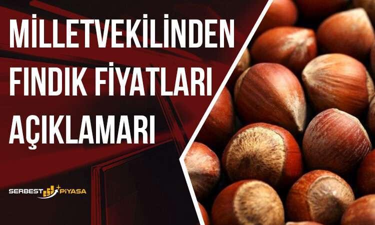 Ak Partili Ordu Milletvekili Metin Gündoğdu'nun Fındık Fiyatı Hakkında Açıklaması