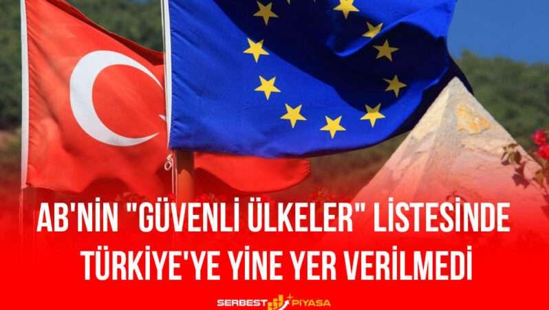"""AB'nin """"Güvenli Ülkeler"""" Listesinde Türkiye'ye Yine Yer Verilmedi"""