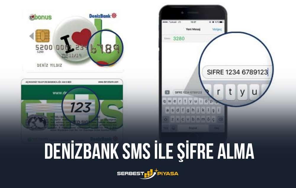 denizbank sms ile şifre alma