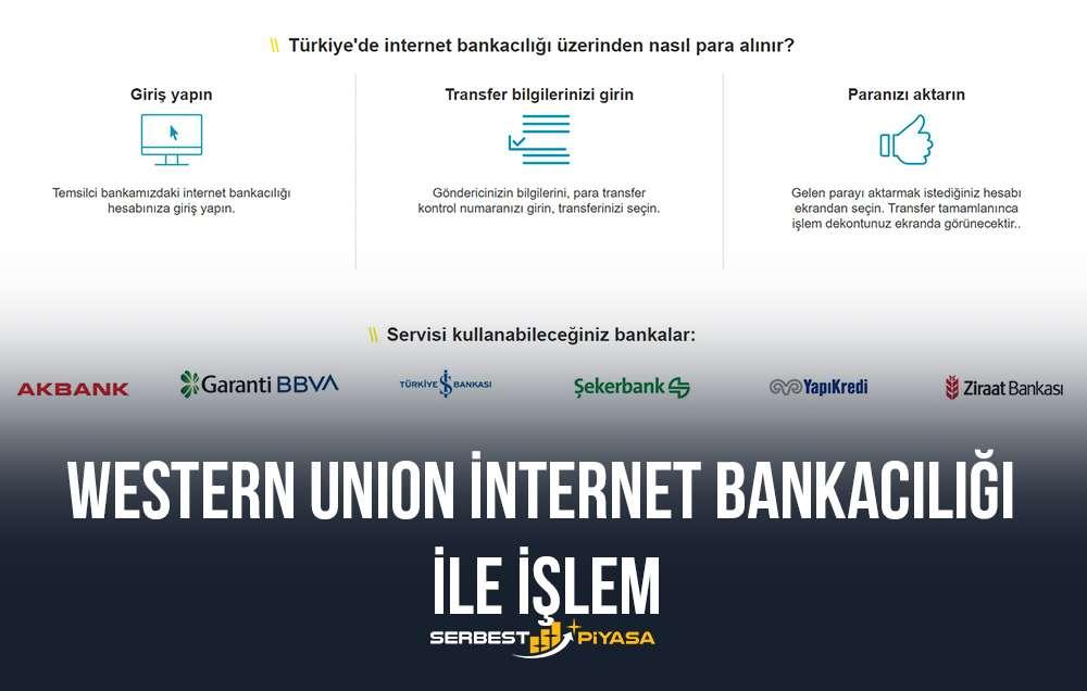 western union internet bankacılığı ile işlem