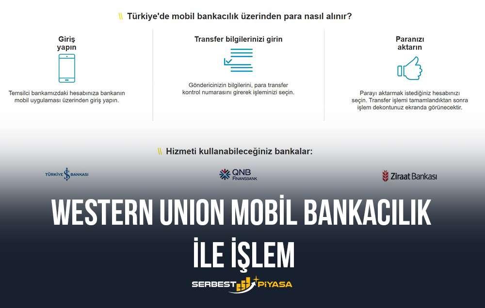 western union mobil bankacılık ile işlem