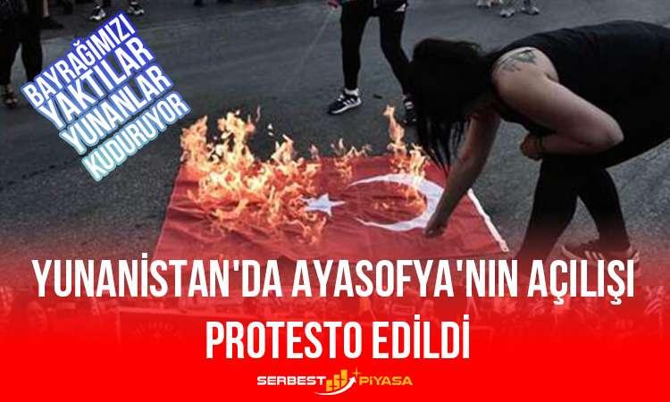 Yunanistan'da Ayasofya'nın Açılışı Protesto Edildi
