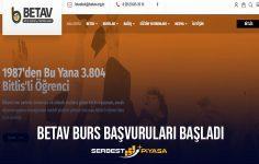2021 BETAV Burs Başvuruları Başladı